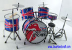 Exclusive miniature drum sets - The Rolling Stones